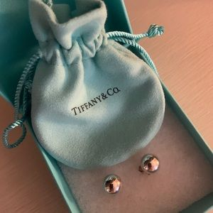Tiffany and Co. silver ball earrings. Never worn